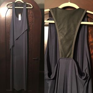 BCDG Maxi Dress with faux leather back